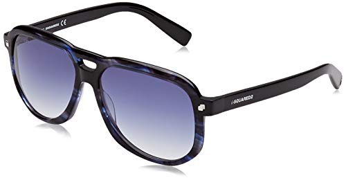 DSQUARED2 TYLER Gafas de sol, Azul (Blue/Other/Gradient Blue), 56.0 para Hombre