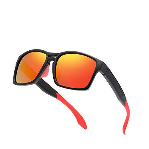 HDSJJD Ultralight TR90 Gafas De Sol Polarizadas Hombres Y Mujeres Deportes Marco Completo Al Aire Libre Clásico De Conducción Cuadrado UV400,A