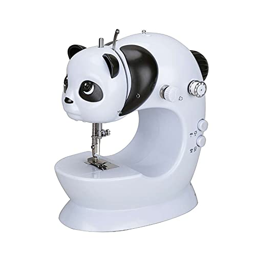 AWSAD Sewing Machine Mesa de Mano de Línea Recta Máquina de Coser Portátil Mini Overlock de Reparación de Fabricación Doméstica Eléctrica con Luz (Size : 21.5x20.5x11cm)