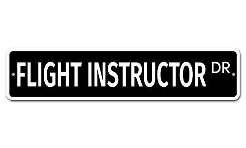 qidushop 6010 Flight Instructor 10 x 45 - Señal de Aluminio para la...
