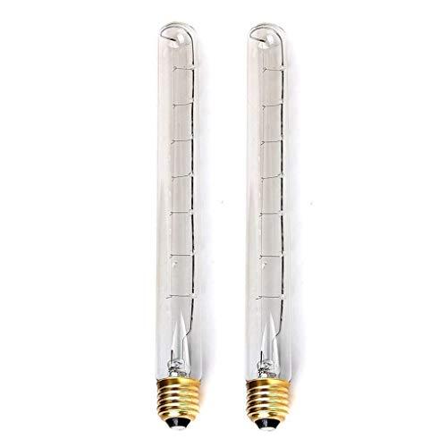 2 Parti Edison T30 Lampada Fluorescente Lunghezza 30Cm Provetta Lampadina A Incandescenza Reed Retro Lampade E27 40W Retro