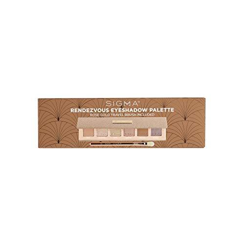 Sigma Beauty Rendezvous Eyeshadow Palette, 6 Shades 1 Travel Brush