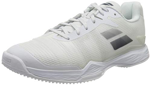 BABOLAT Jet Mach II Grass Men, Zapatillas de Tenis Hombre, White/Estate Blue, 44.5 EU