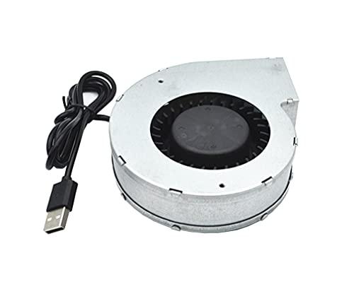 Yx-outdoor Soplador de Hierro para Barbacoa, plástico con núcleo de turbina, Cable USB Directo al Banco de energía, Estufa de Picnic al Aire Libre, Estufa de leña Soplador eléctrico