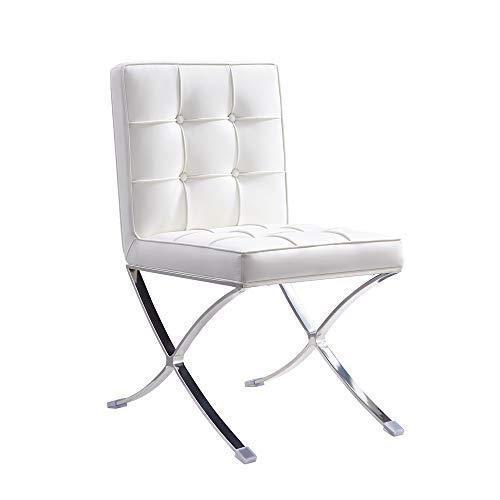 Vivol Esstisch Stuhl Barcelona Weiß - modernes Design Retro Sessel auch für Bar und Lounge - Erhältlich in DREI