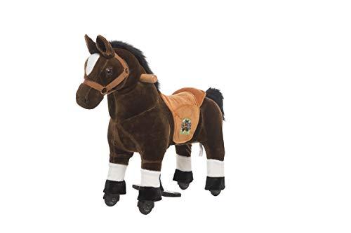 Animal Riding ARP002XS Reitpferd Amadeus XS Mini, Reittier ab 2 Jahre, Sattelhöhe 40 cm, Pferd braun