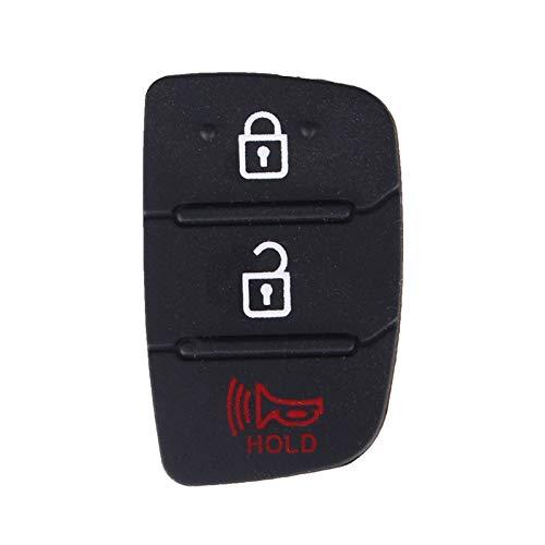 MENGGOO Reemplazo de 50x 3 2 + 1 Botones de Espera Caja de la Cubierta de la Cubierta de la Llave del automóvil Pad del botón de Goma para Fit for Hyundai Santa FE IX35 IX45 Acent I40