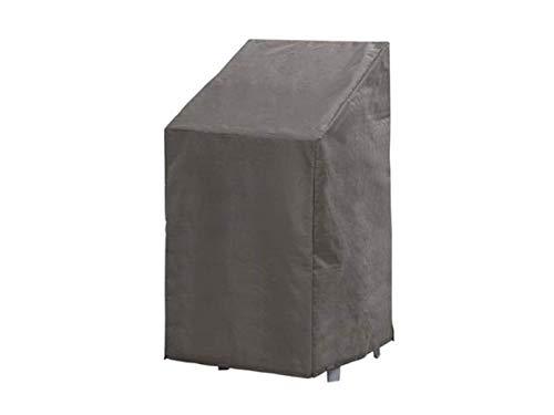Perel Garden Housse de Protection pour Fauteuil empilable 95 cm Anthracite 66 x 95 x 93 cm OCSC95