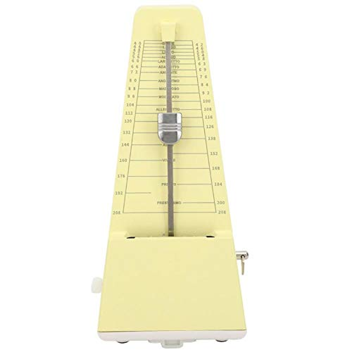 Accesorios de instrumentos musicales de metrónomo mecánico de estilo piramidal tradicional para piano, guitarra, violín(Yellow)