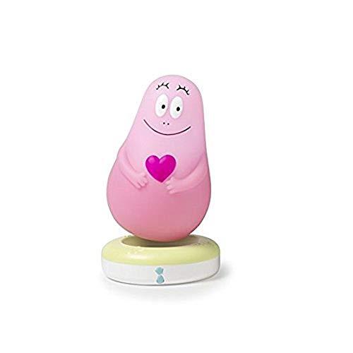Veilleuse Portable pour Bébé et Enfant - Barbapapa - Lampe Nomade : 24 heures d'autonomie sans pile ni fil - Lumière Douce à LED - Chargeur à induction - Lumilove - Rose - Pabobo x Kid Sleep