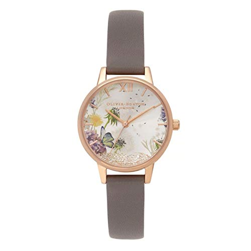 Olivia Burton Damen Analog Quarz Uhr mit Leder Armband OB16SG02