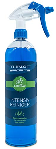 TUNAP SPORTS Fahrradreiniger, 1000 ml Spray | Pflege und Wartung von MTB bis Rennrad - Rahmen und Teile (1 Liter)