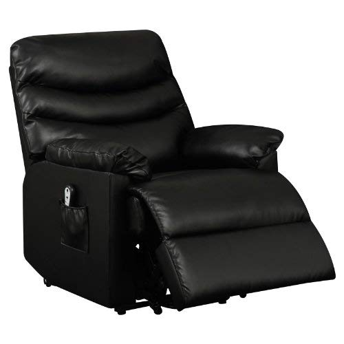ProLounger Leather Power Lift and Reclining Living Room Chair, Black