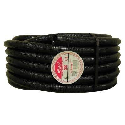 Tubo corrugado 32mm 50m【REFORZADO DE DOBLE CAPA】•【IGNIFUGO】No propagador de llamas • Tubos...