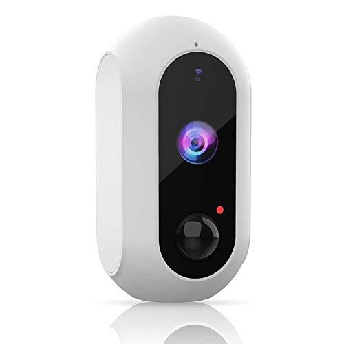 Cámara de seguridad inalámbrica para el hogar, 1080P recargable con batería, cámara Wi-Fi para exteriores e interiores con visión nocturna, detección de movimiento PIR, audio bidireccional