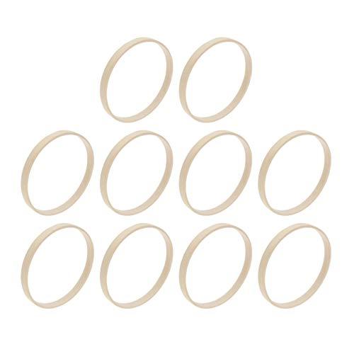 VORCOOL - 10 aros de bambú de madera para bordar, 10 cm, para manualidades, atrapasueños, corona de Navidad, marco de abanico redondo