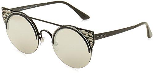 Bulgari 0BV6088 239/6G 54 Gafas de sol, Negro (Black/Lightgreymirrorsilver), Unisex-Adulto