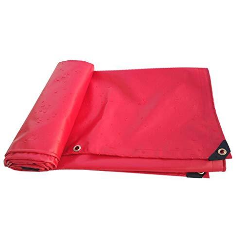 XF Planen & Spanngurte Plane-Red Wasserdichte Plane staubdicht und frostsicher Sonnenschutz schwere Plane 500g / m2-0.4mm Planen & Spanngurte (größe : 5 * 5m)