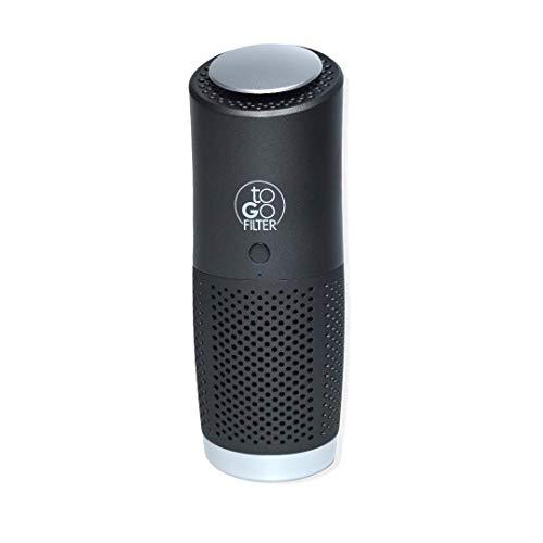 ToGoFilter - Purificador de aire elimina hasta el 99,9 % de virus y aerosoles del aire, para alérgicos, para aire purificado en habitaciones de tamaño mediano, color negro
