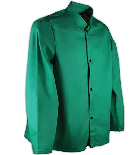"Magid SparkGuard Flame Resistant 12 oz. Cotton Jacket, 30"", Green, XXL"