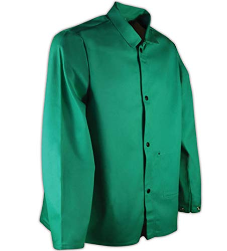 "Magid SparkGuard Flame Resistant 12 oz. Cotton Jacket, 30"", Green, 3XL"