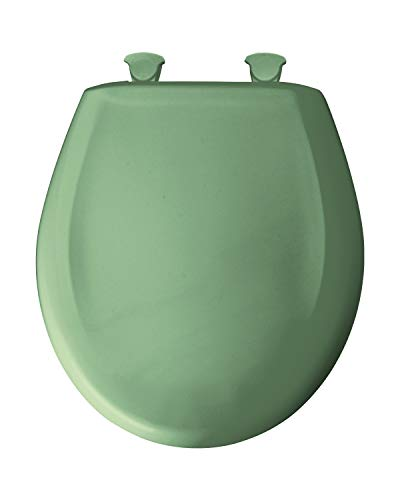 Bemis 200SLOWT 025 Toilet Seat, Slow-Close Round Closed Front Plastic w/Easy-2-Clean Hinges - Jade