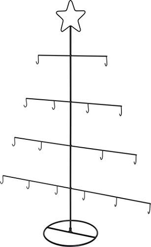 Metall Deko Weihnachtsbaum 76 cm - Christbaum Kugel Halter Tannenbaum mit Stern