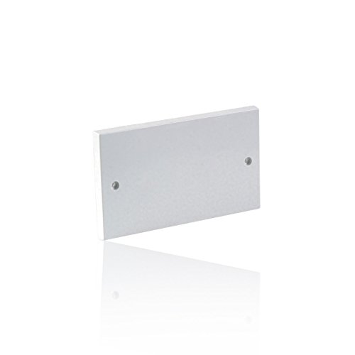 CDL Micro Dual Gang Electrical Socket Blanking Plate - White