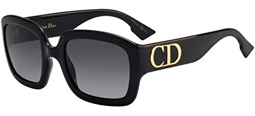 Christian Dior DDIOR FF Gafas, BLACK/GY GRIGIO, 54 Mujeres