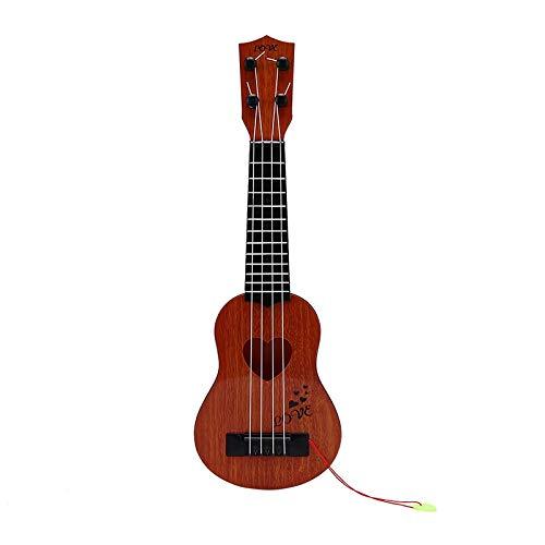 PNLD Anfänger Klassik Sicher Einfach Ukulele Gitarre 4 Strings Educational Musical Konzert-Instrument-Spielzeug for Kind (Farbe : KK, Größe : 21 inches)