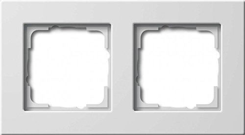 Preisvergleich Produktbild Gira 0212204 Abdeckrahmen 2-Fach Flache Montageart Gira E22,  reinweiß
