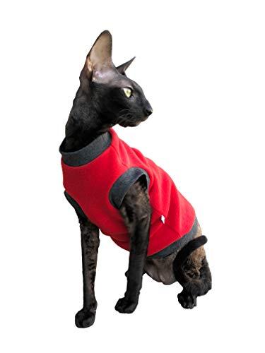 Kotomoda Katzen Kleidung Pullover Rotte Vlies (S)