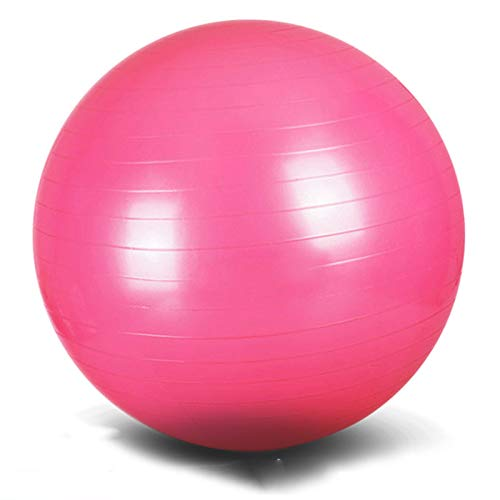 Bola de Yoga, Bola de Masaje de Fitness, Bola de Equilibrio, Bola de Salto, Patrón de Espiral Antideslizante, Diámetro Seguro y Estable 45 cm 55 cm 65 cm 75 cm 85 cm,Púrpura