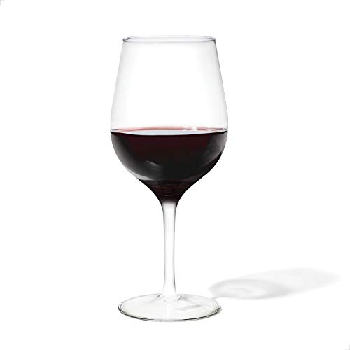 TOSSWARE RESERVE 16oz Wine SET OF 4, Tritan Dishwasher Safe & Heat Resistant Unbreakable Plastic Cocktail Glasses, Stemmed