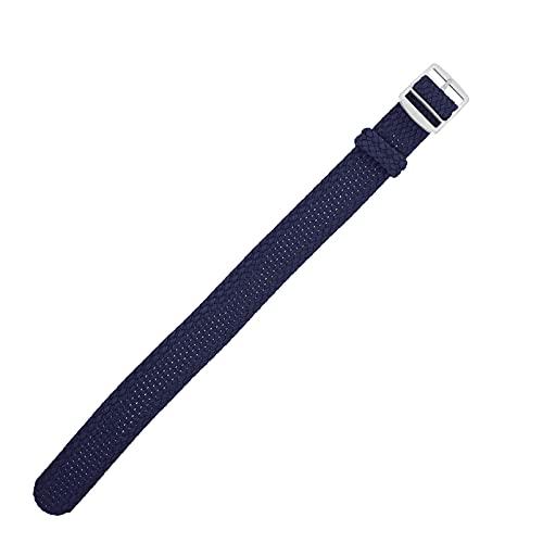 ibasenice Correa de Reloj de Nylon Trenzada Correa de Reloj Vintage de Liberación Rápida Correa de Reloj Inteligente con Hebilla de Metal Compatible con Accesorios Perlon 20Mm Azul