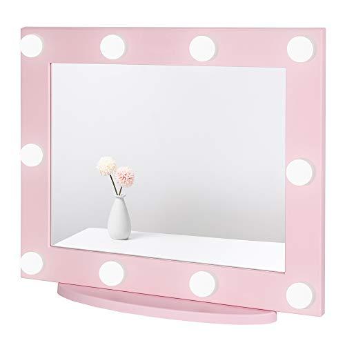 specchio trucco rosa Waneway Specchio Trucco con Luci per Make up