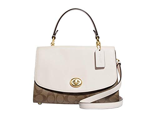 COACH Signature Tilly Top-Handle Satchel Khaki/Chalk One Size