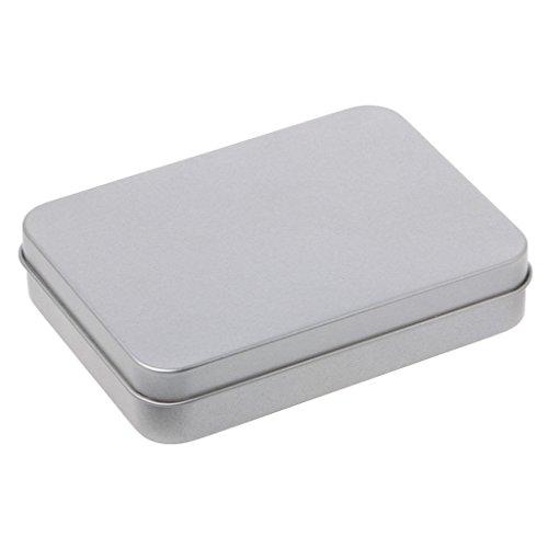 SimpleLife Metall Zinn Silber Aufbewahrungsbox Etui Organizer/Münzhalter Kapseln Container/Candy Key Case (Silber)