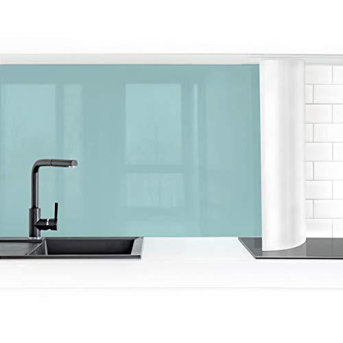 Bilderwelten Küchenrückwand Folie selbstklebend wasserfest Pastelltürkis 70 x 400 cm Smart