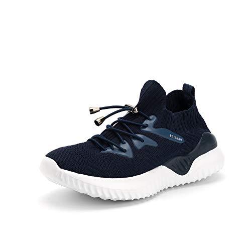 Niños Zapatos Deportivos Running Zapatillas Unisex Deporte Sneakers Ligero Azul 31 EU