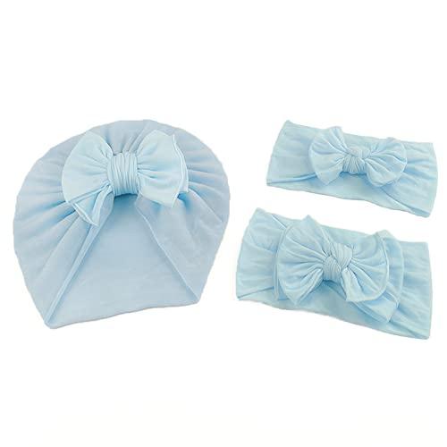 Juego de 3 diademas para recién nacidos, cinta elástica de nailon, cinta para el pelo, para niñas, turbante de bebé, diadema, accesorios para el pelo para niñas pequeñas y niños
