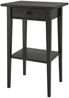 IKEA Hemnes Night Stand Bedside Table Black-Brown 46 x 35 cm by Ikea