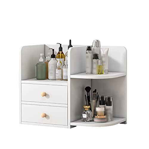 AWYST Buch Halter Schreibtisch Organizer Cosmetic Storage Organization Desktop Bücherregal für Bleistifte Notizbücher Dokumente & Kosmetik Buchstützen (Color : White, Größe : Small)