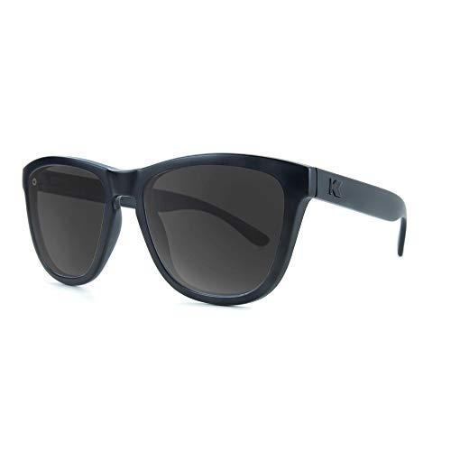 Knockaround Premiums Gafas de sol polarizadas para hombres y mujeres, protección completa UV400, Negro (Negro sobre negro/ahumado.), Talla única
