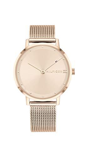 Tommy Hilfiger Damen Analoger Quarz Uhr mit Edelstahl Armband 1782150
