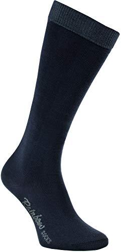 Rainbow Socks - Niño Niña Calcetines Largos Hasta la Rodilla - 1 Par - Azul Marino - Talla 24-29