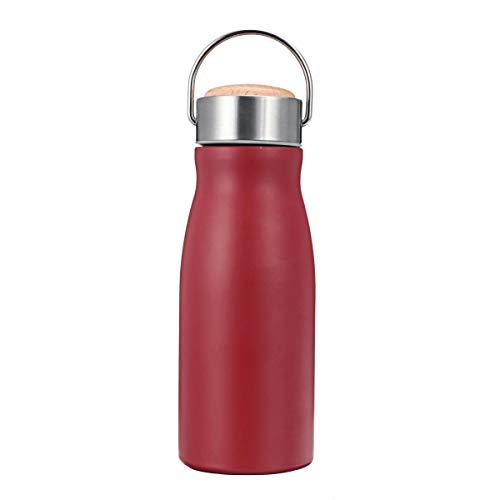 Jinshang - Borraccia in acciaio INOX, 360 ml, con isolamento termico, per viaggio, colore: Rosso