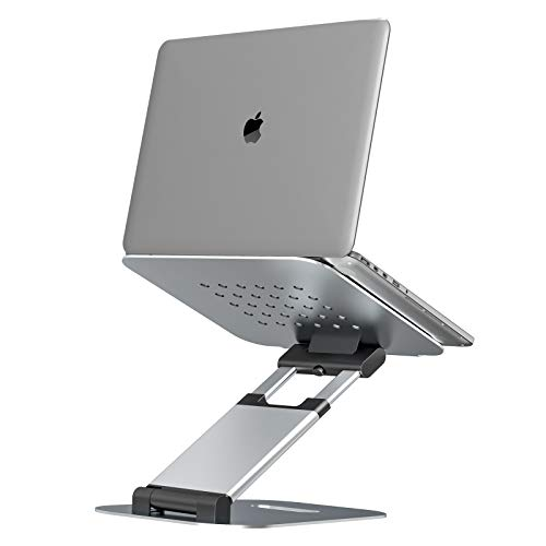 Laptop Stand for Desk,Multi-Angle Adjustable Laptop Stand with Heat-Vents,Ergonomic Computer Stand Laptop Riser- Adjust Height up to 20'',Sit to Stand Laptop Holder Compatible with Laptops up to 17''