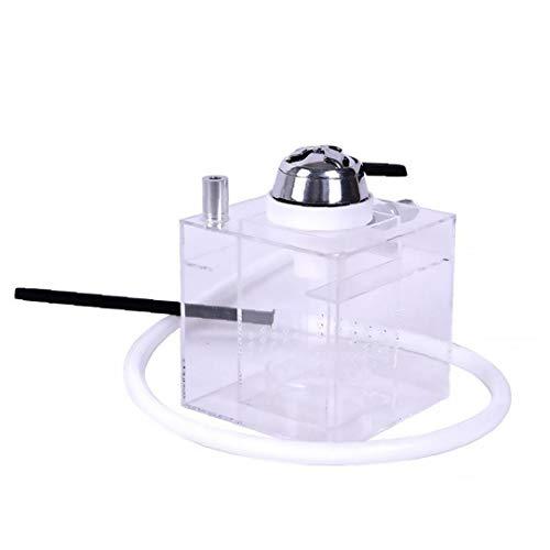 Nicetruc Huka Shisha Rohr Set Acryl mit Heller beweglicher Schüssel Schlauch Tongs für Shisha Narguile Rauchen (Transparent)