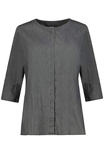 Ulla Popken Damen große Größen Bluse grau 46/48 749535 12-46+